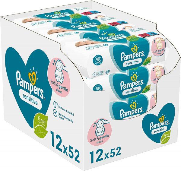 624x Pampers Billendoekjes Sensitive Navulling voor €9,75
