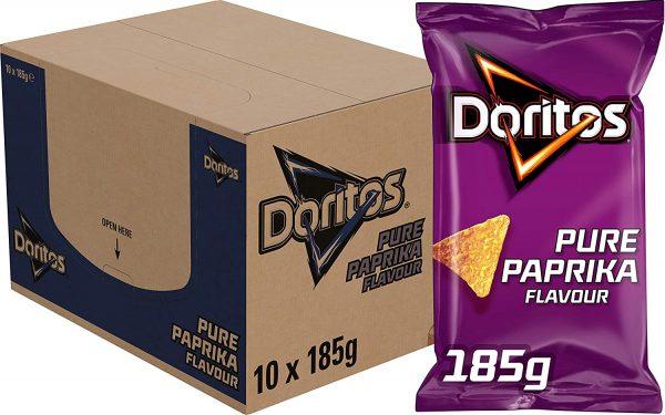 10x 185gr Doritos Tortilla Chips Paprika voor €10,79