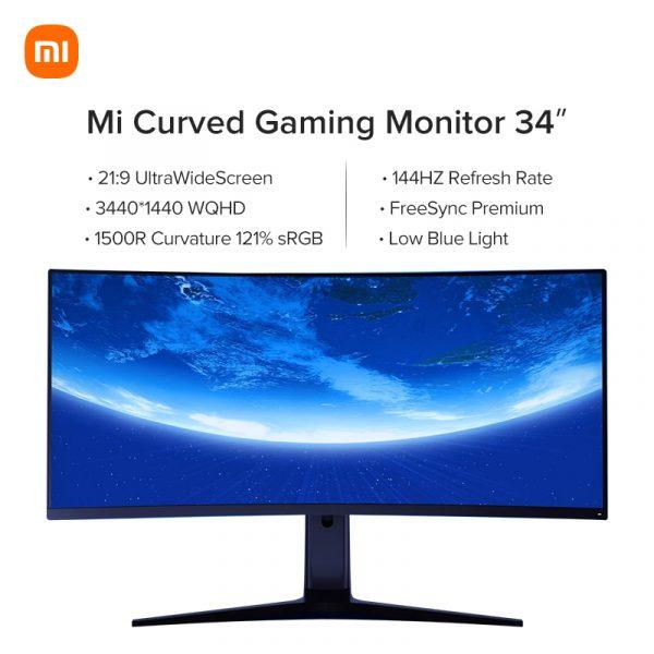 Xiaomi Mi Curved Gaming Monitor 34″ voor €369,99 door kortingscode