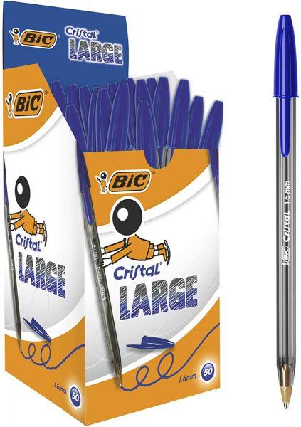 50x BIC® Cristal Balpen 1,6 mm Blauw voor €10,96