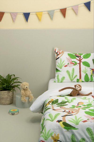 Jungle Katoenen Dekbedovertrek (140×200/220 cm) voor €9