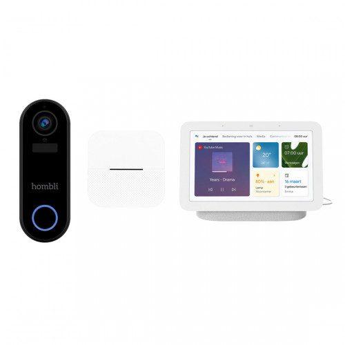 Hombli Smart Doorbell 2 + Chime en Google Nest Hub voor €139