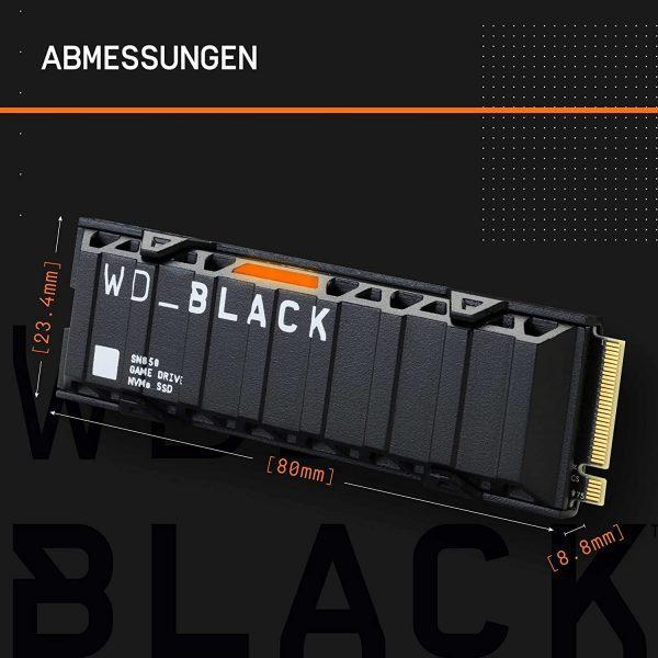 WD Black SN850 2TB NVMe met Heatsink voor €389