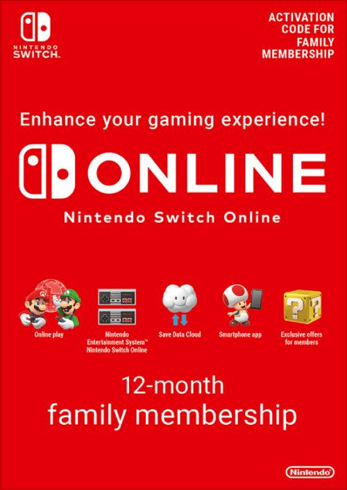 Nintendo Switch Online Familie (12 maanden) voor €26,79