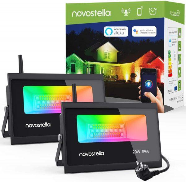 2x Novostella RGBCW Spotlight 20W voor €29,99